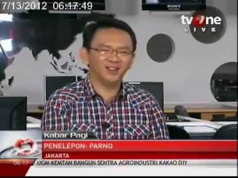 Ahok dalam Acara Kabar Pagi TVOne