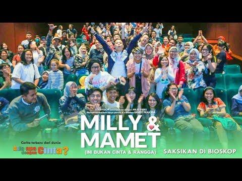 download lagu MILLY & MAMET (Ini Bukan Cinta & Rangga) - Nobar Di Kasablanka XXI gratis