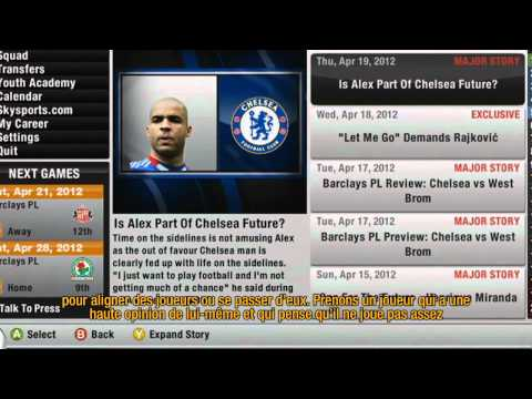 FIFA 12 - Le mode Carrière part 1