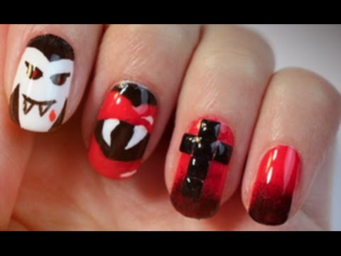 DRACULA Halloween Nails