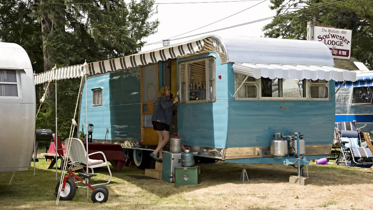 Visiting A Vintage Travel Trailer Resort In Seaview Wa
