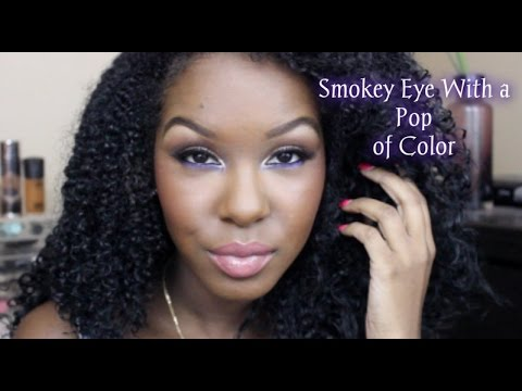 Glam Neutral Smokey Eye w/ a Pop of Color - Feat. Amrezy Palette