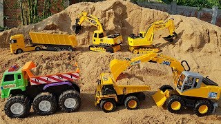 Construction Vehicles Toys For Kids Excavator Wheel Loader Dump Truck Road Roller For Children