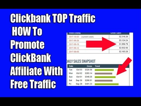 Clickbank TOP Traffic , HOW To Promote ClickBank Affiliate With Free Traffic