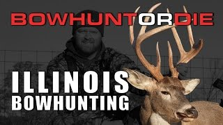 Bowhunting Illinois Whitetails | Tall Tine Buck Goes Down
