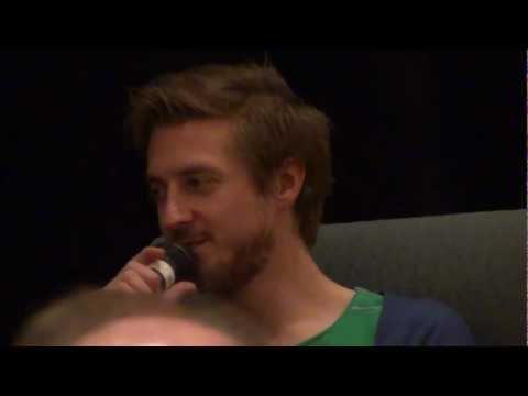 Arthur Darvill talks about the Pond family in Q&A session at Hurricane Who