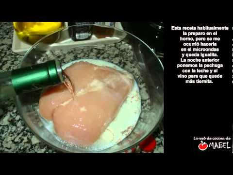 Pollo a la mostaza en el microondas - La web de cocina de Mabel