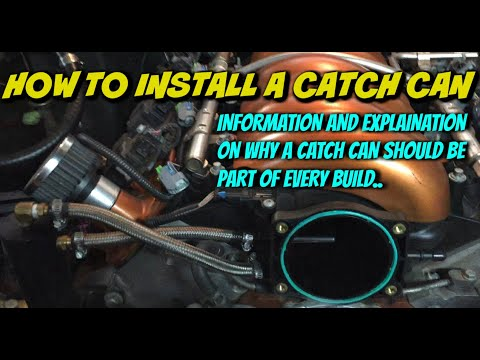 Installation and explanation of a PCV catch can on a LS engine