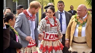 Royal Tour - Duke and Duchess of Susex visit Tongan Youth, Cultural and Tongan Made Exhibition