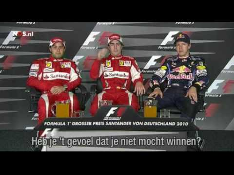 Press conference German GP after team order Ferrari
