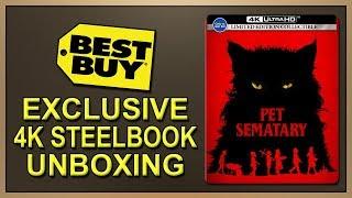 Pet Sematary (2019) Best Buy Exclusive 4K+2D Blu-ray SteelBook Unboxing