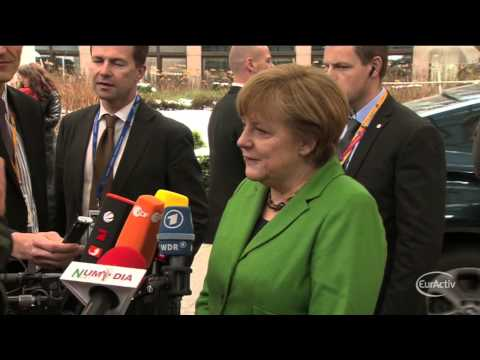 Angela Merkel arrives at the March 2013 EU Summit