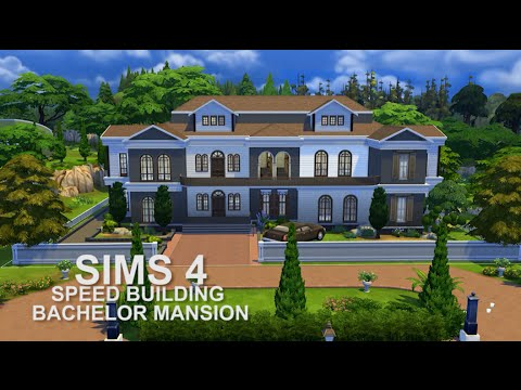 The Sims 4 Speed Building Bachelor Mansion Youtube