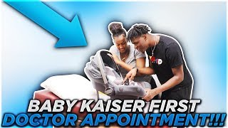 BABY KAISER FIRST DOCTOR APPOINTMENT