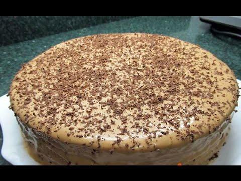 Быстрый торт из готовых коржей