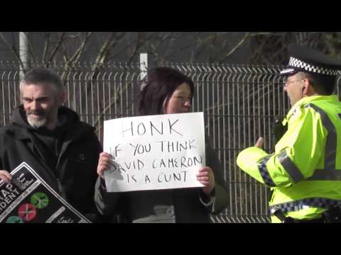 Scrap Trident emergency protest: David Cameron in Scotland