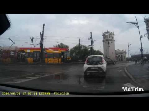 Wypadek 1.06.2016 Most Poniatowskiego Warszawa