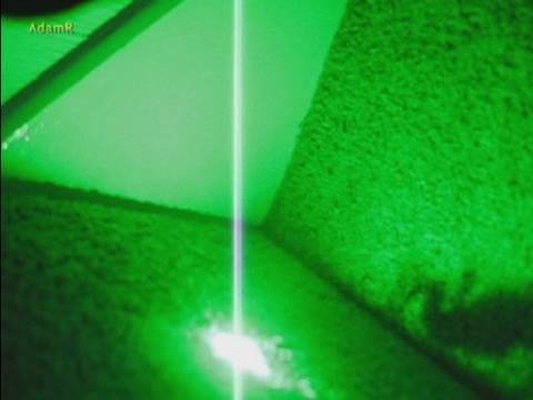 Rogue Spider Vs High Power Green Laser