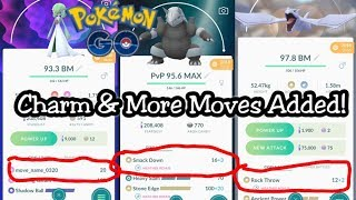 Charm and More New Moves Added In Pokemon GO