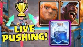 LIVE LADDER PUSHING! | Testing The New Balance Changes | Clash Royale