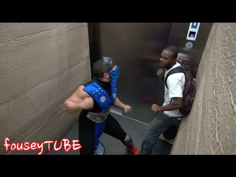 Mortal Kombat Elevator Prank! video