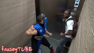 MORTAL COMBAT PRANK AT THE ELEVATOR