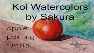 KOI Watercolors by Sakura apple painting tutorial