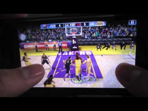 Nba 2k13 how to do an alley oop (iphone)