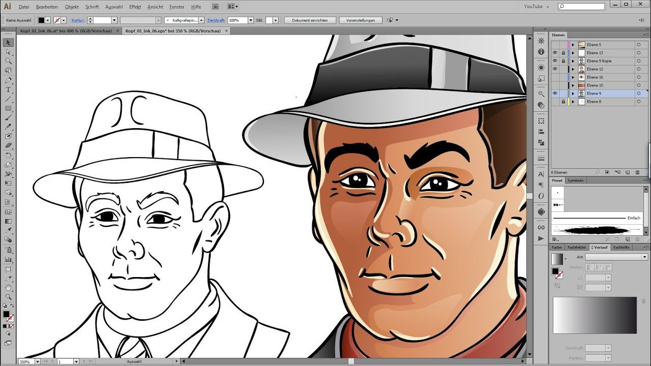 Drawing Lines In Illustrator : Drawing and coloring tutorial for adobe illustrator youtube