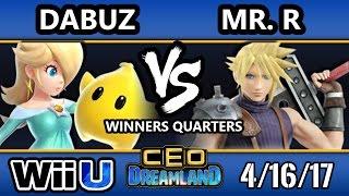 CEO Dreamland 2017 Smash 4 - RNG | Dabuz (Rosalina) Vs. Elevate | Mr. R (Cloud) SSB4 WQ