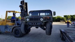 Picked up a HMMWV Humvee from GovPlanet, first drive in Texas