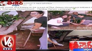 Sania Mirza Participates In Haritha Haram | Teenmaar News | V6 News