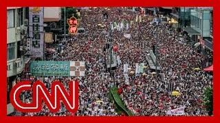Organizers say over one million marched in Hong Kong
