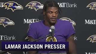 Lamar Jackson Full Press Conference After Beating Rams | Baltimore Ravens