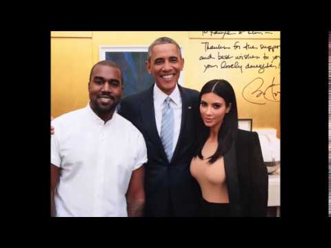 Kim Kardashian Poses with President Obama and Kanye West on Instagram (1/30/15)