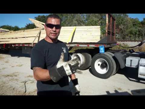 Tire repair on a semi truck (instructional)