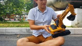 Xe Máy Xúc bằng sắt điều khiều từ xa | Excavator toy for kids