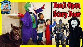 DON'T OPEN SCARY DOOR | MISSING PLAY BUTTON | DEION'S PLAYTIME