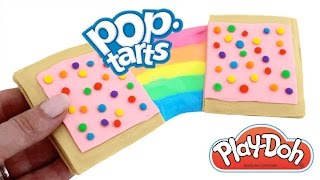 Play Doh How to Make Rainbow Slime Pop Tarts * Creative for Kids * RainbowLearning