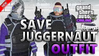 GTA 5 Online - JUGGERNAUT OUTFIT GLITCH! SAVE RARE COOL MODDED CLOTHING! (GTA 5 Glitches)