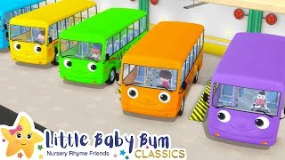 Color Bus Song + More Nursery Rhymes & Kids Songs - ABCs and 123s | Little Baby Bum