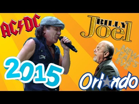 Billy Joel & AC/DC's Brian Johnson 'You Shook Me All Night Long' New Years Eve 2014 Orlando