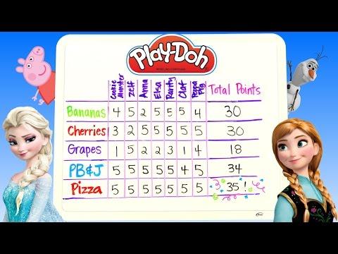 Play Doh Lunchtime Creations Disney Frozen Peppa Pig Zelfs Cookie Monster Playdough Sweet Shoppe video