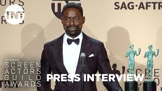 Sterling K. Brown: Press Room Q&A | 24th Annual SAG Awards | TNT