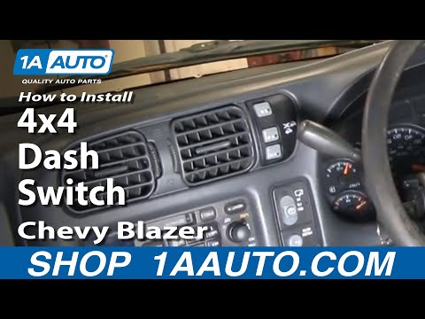 How To Install Replace 4x4 Dash Switch Chevy S10 Blazer Pickup GMC S15 Jimmy Son