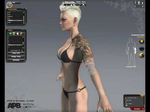 APB: Reloaded - E3 2009: Character Customization Gameplay (All Points Bulletin) | HD
