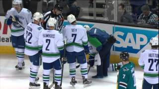 Gotta See It: Burns crushes Henrik Sedin, forces him out of game