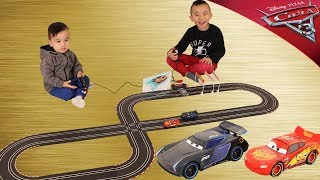FASTEST Lightning McQueen Vs Jackson Storm Race Disney Cars 3 Toys Fun With Ckn Toys