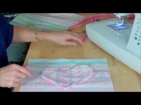 Handbag with heart pocket for you to sew by Debbie Shore