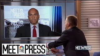 Full Booker: Trump 'Is Responsible' For Rising Hate | Meet The Press | NBC News
